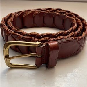 Banana Republic Accessories - Banana Republic Genuine Leather Woven Braided Belt